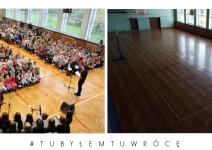 Sala w Szkole Podstawowej w Janowcu Wielkopolskim - zdjęcia nadesłane przez burmistrza Leszka Grzeczkę