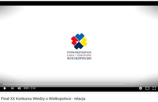 Film dokumentujący uroczystość zakończenia XX Konkursu Wiedzy o Wielkopolsce