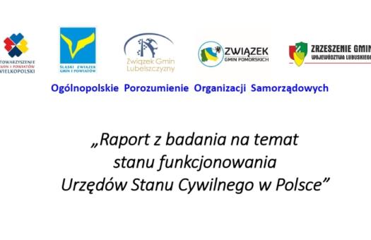 Raport na temat stanu funkcjonowania USC w Polsce opublikowany