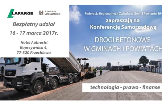 Konferencja: Drogi betonowe w gminach i powiatach – technologia, prawo, finanse