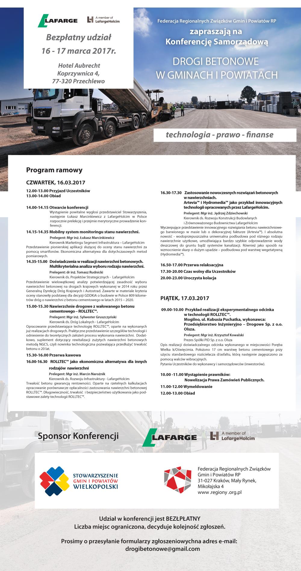 ZaproszenieKonferencja-drogi-betonowe_marzec wilekopolska