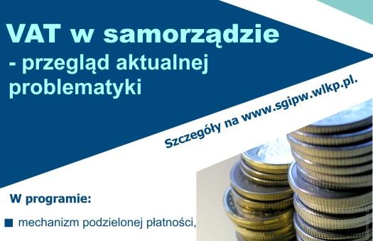 SEMINARIUM: VAT w samorządzie – przegląd aktualnej problematyki